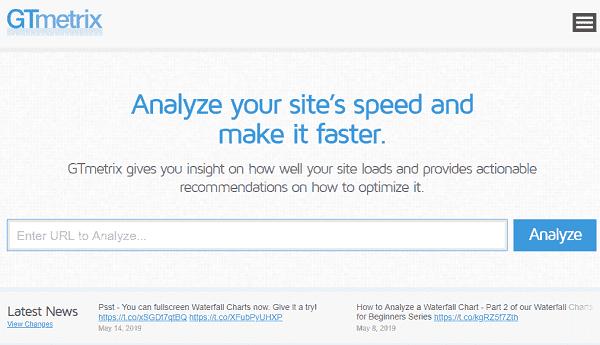 Как проверить скорость загрузки сайта GTMetrix