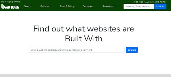 как узнать cms сайта BuiltWith.com