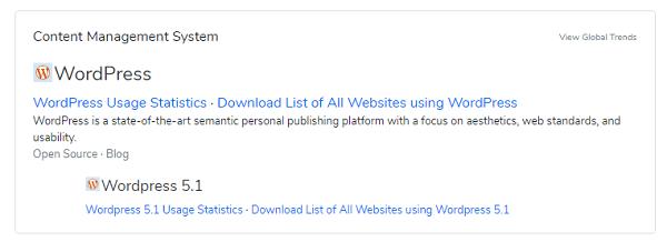 как узнать движок сайта BuiltWith.com