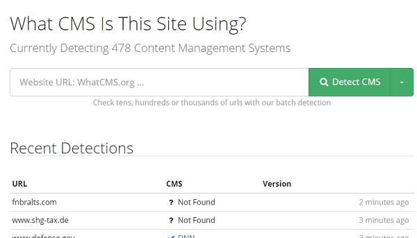 как узнать cms сайта whatcms.org