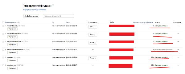 Проверка валидации фида в Яндекс.Директ