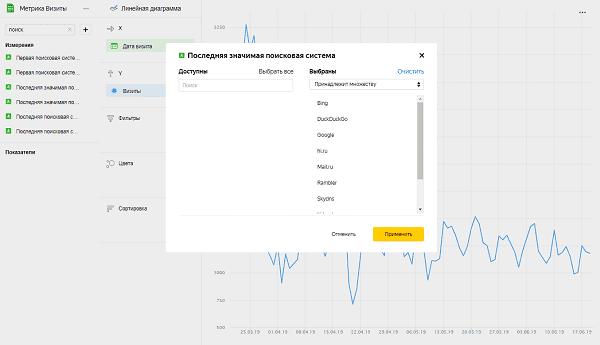 Создание значений в Yandex DataLens