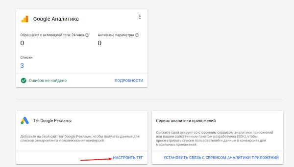 Настройка ремаркетинга и аудитории в Google Рекламе