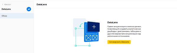 Активировать в DataLens