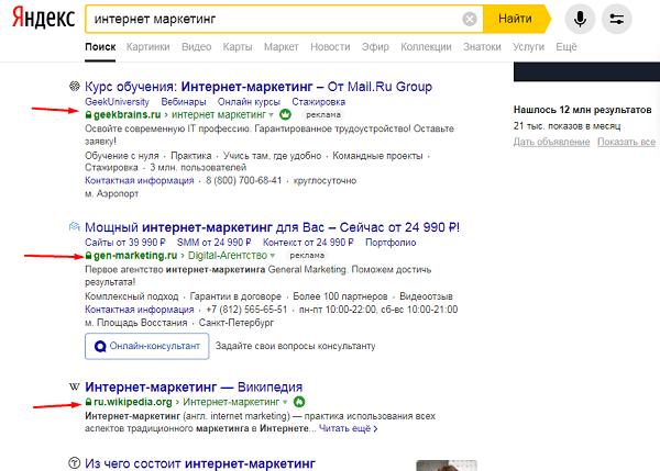 Перехавшие на https сайты в Яндексе
