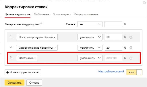 Корректировки ставок в Яндекс.Директе