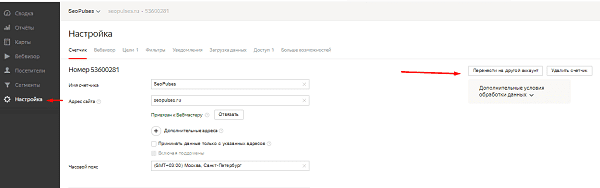 Передача прав владения счетчиком в Яндекс.Метрике