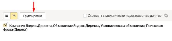Группировки в Yandex Metrika