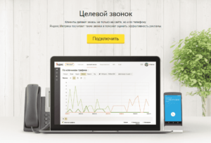 Подключение Яндекс Целевой звонок 2.0