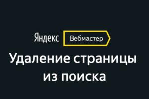 Удаление страниц с поиска в Яндекс.Вебмастер: что это и как использовать?
