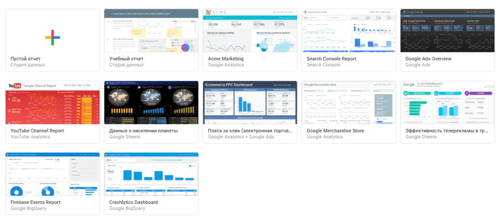 Google Data Studio - инструмент для визуализации данных
