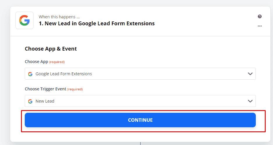Интеграция Запиера с лид-формами в Google Adwords (Ads)