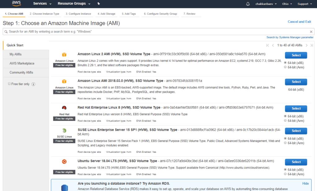Выбор сервера с бесплатным VDS EC2 Amazon Web Services