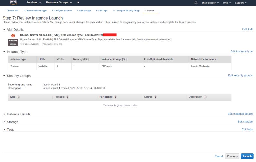 Установка бесплатного сервера в Амазон Веб Сервисес