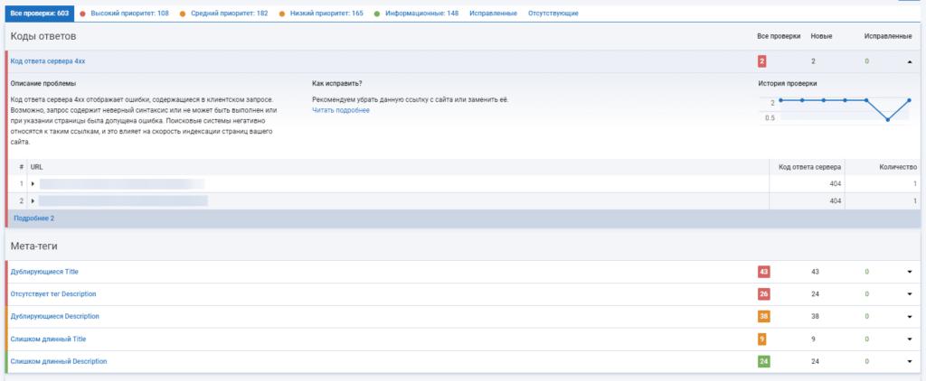 Полный аудит сайта в Serpstat