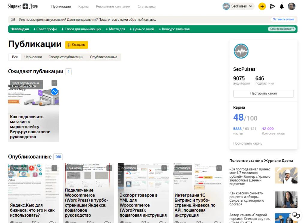 Использование предоставленных прав в Яндекс.Дзен