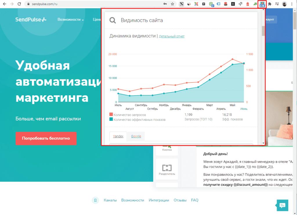 Индексация сайта в расширении Be1