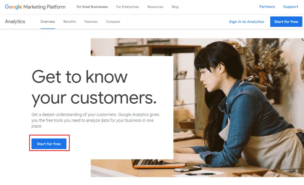Сайт Google Analytics 4