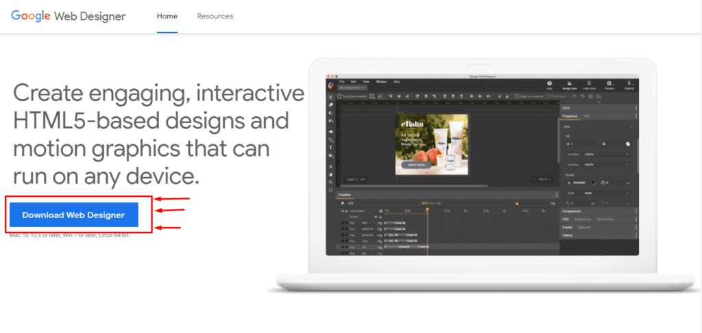Google Web Designer скачивание приложения