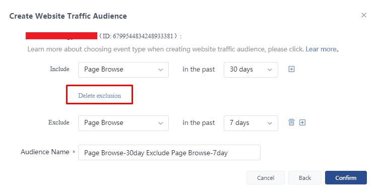 Создание пользовательской аудитории в TikTok Ads на основе трафика на сайт и удаления аудиторий