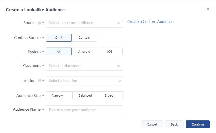 Создание Look a Like аудитории в TikTok Ads на основе одного из источников