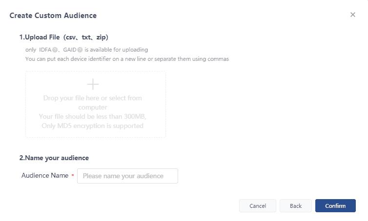 Создание пользовательской аудитории в TikTok Ads на основе файла