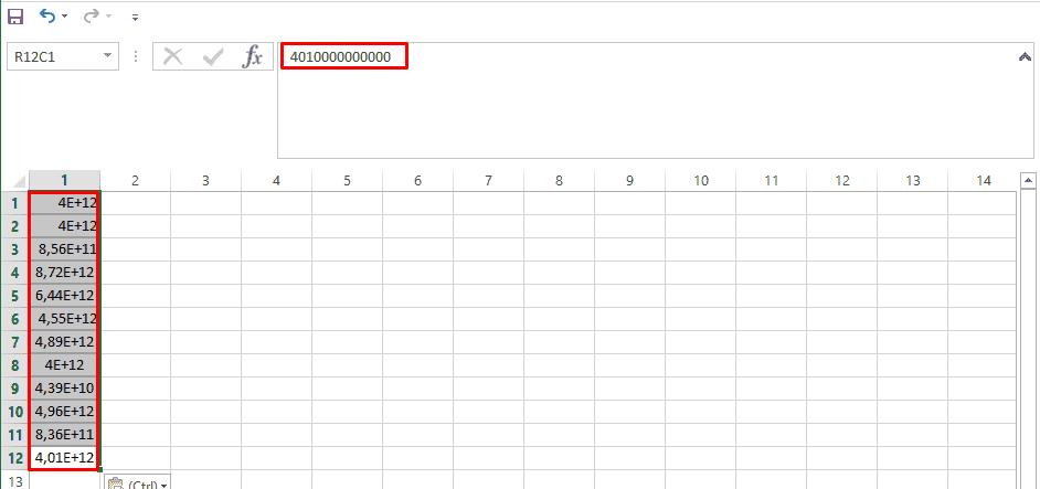 Экспоненциальный вид чисел в Excel